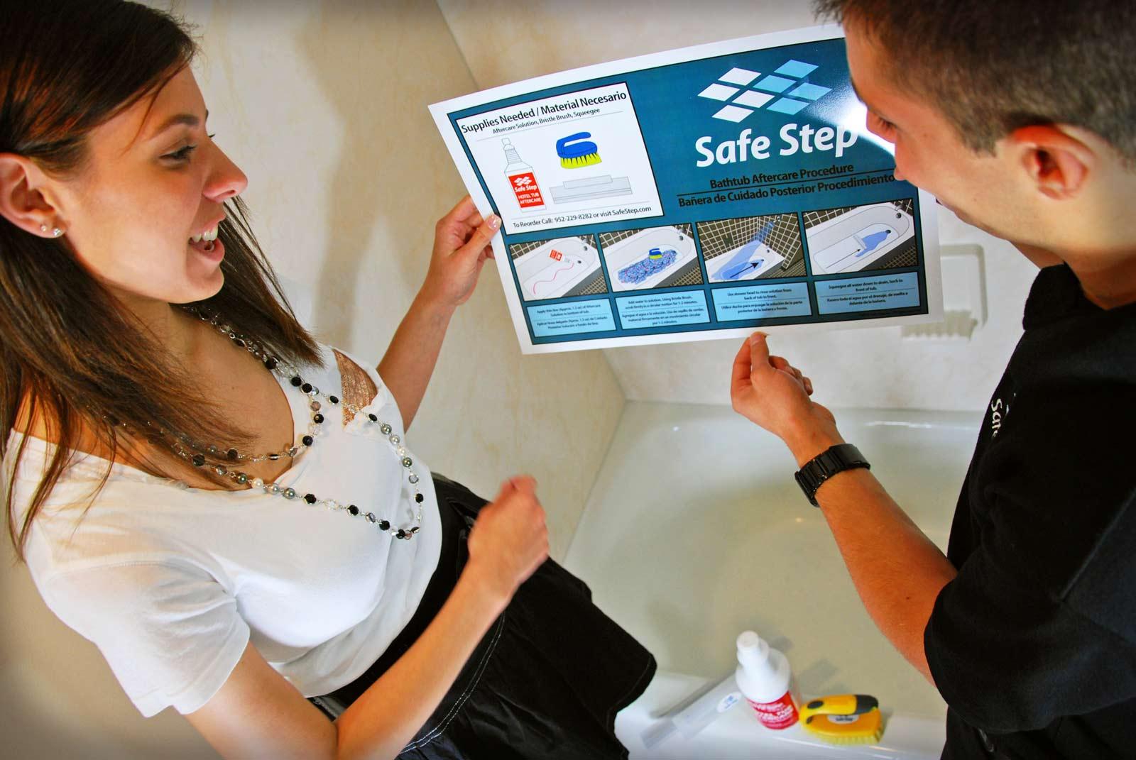 Anti Slip Floor Treatments : Our signature paint free anti slip treatment safe step