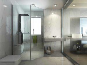 clean hotel shower